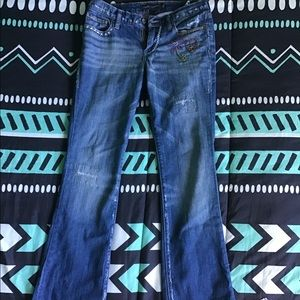 Lucky Brand jeans with embroidery